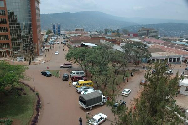 Downtown Kigali, by Jenny and Randy aka hellotrain on their blog The Other Side of the Fence